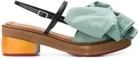 Marni fabric bow sandals