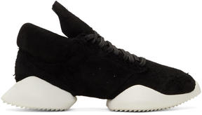 Rick Owens Black and White Adidas Edition Viscous Runner Sneakers