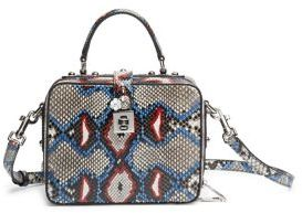 Dolce & Gabbana Miss Dolce Python Top-Handle Bag - GREY-MULTI - STYLE