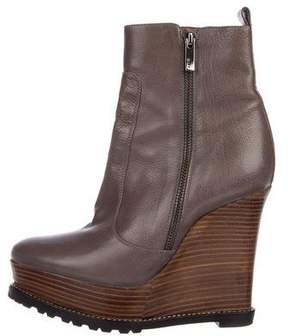 Barbara Bui Leather Wedges Boots