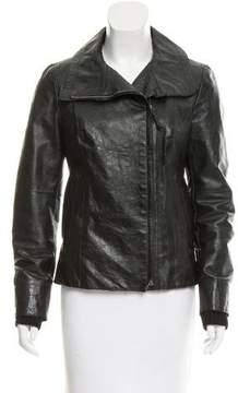 CNC Costume National Leather Moto Jacket