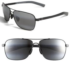 Maui Jim Men's 'Mauiflex - Freight Trains' Polarizedplus 62Mm Sunglasses - Gunmetal/ Black/ Neutral Grey
