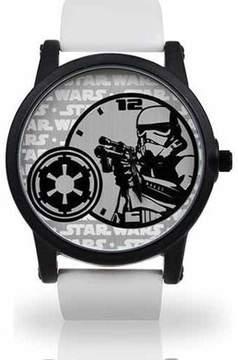 Star Wars Men's Stormtrooper Watch, White PU Strap