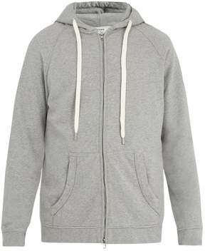 Frame Zip-through hooded cotton sweatshirt