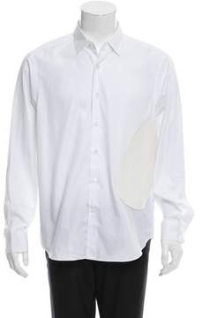 Loewe Faux Leather-Trimmed Button-Up Shirt