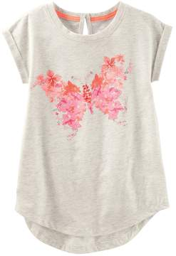 Osh Kosh Oshkosh Bgosh Girls 4-12 Butterfly Graphic Tunic Top