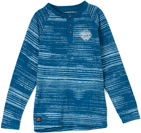 Buffalo David Bitton Legion Blue Button-Front Hipero Tee - Boys