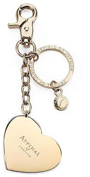 Aspinal of London | Gold Plated Heart Handbag Charm Keyring | Gold