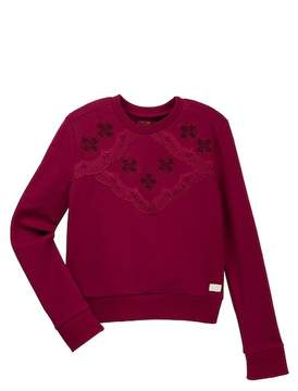 7 For All Mankind Pop-Over Sweater (Big Girls)