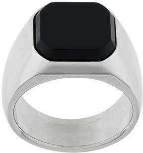 DSQUARED2 octagonal inset signet ring