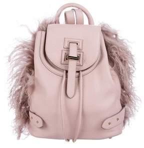 Meli-Melo Mongolian-Trimmed Mini Backpack