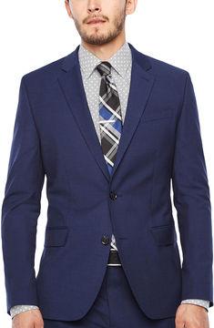 Jf J.Ferrar JF Dark Blue Texture Jacket-Super Slim