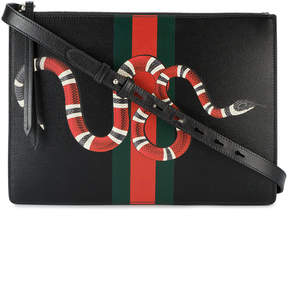 Gucci web and snake messenger bag