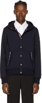 Moncler Gamme Bleu Navy Snap Button Hoodie