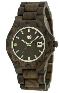Earth Gila Collection ETHEW3302 Unisex Wood Watch with Wood Bracelet-Style Band