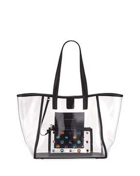 Sophia Webster Dina Gem See-Through Vinyl Tote Bag