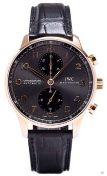 IWC IW371482 Portuguese Automatic Chronograph Rose Gold Grey Dial Watch