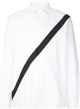 Public School striped panel shirt