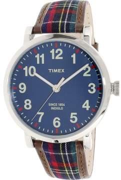 Timex Men's Heritage TW2P69500 Multi Brown Leather Japanese Quartz Dress Watch