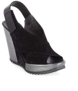 Pedro Garcia Videl Castoro Lame Wedge Sandals