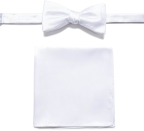 Apt. 9 Solid Pretied Bow Tie & Pocket Square