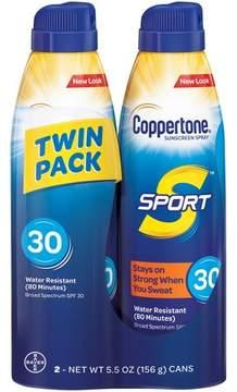 Coppertone Sport C-Spray Sunscreen Twin Pack - SPF 30 - 12oz