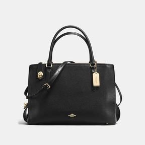 COACH Coach Brooklyn Carryall 34 - LIGHT GOLD/BLACK - STYLE