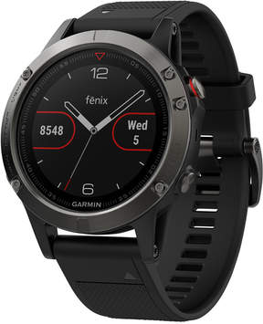 Garmin Men's fenix 5X Sapphire Multisport Black Silicone Band Smart Watch 51mm 010-01733-00