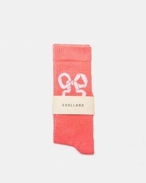 Soulland Ribbon Socks (Dusty Coral)