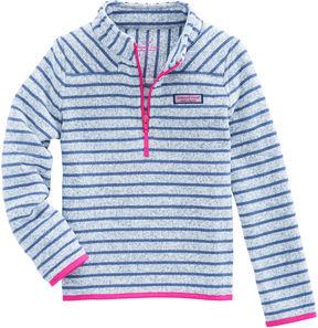 Vineyard Vines Girls Stripe Sweater Fleece Shep Shirt