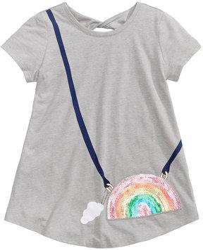Jessica Simpson Katelyn Twist-Back Rainbow Purse-Pocket T-Shirt, Big Girls (7-16)