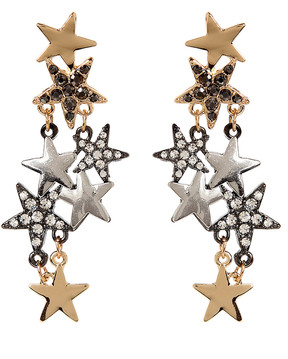 Amrita Singh Austrian Crystal & Goldtone Celestial Starburst Drop Earrings