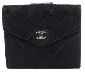 Chanel Diamond Stitch Compact Wallet