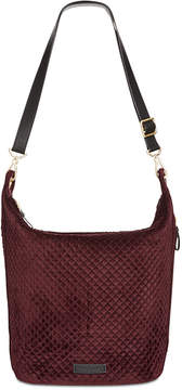 Vera Bradley Carson Quilted Velvet Medium Hobo Bag - CHOCOLATE RAISIN - STYLE