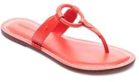 Bernardo Matrix Leather Thong Sandals
