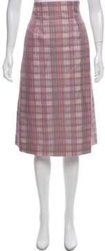 Brooks Brothers Plaid Midi Skirt