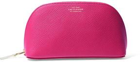 Smythson - Panama Textured-leather Cosmetics Case - Fuchsia