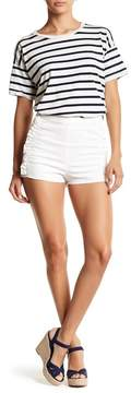 Flying Tomato Denim White Shorts
