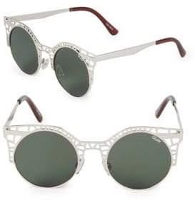 Quay Fleur 50MM Round Sunglasses