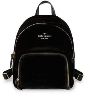 Kate Spade Hartley Velvet Backpack - SAPPHIRE - STYLE