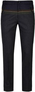 Kolor Colour Block Flannel Trousers