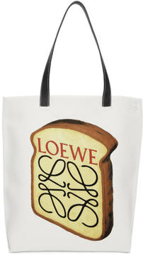 Loewe White Toast Tote