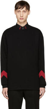 Givenchy Black and Red Cuff Sweatshirt
