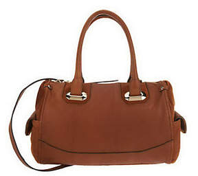 B. Makowsky As Is Glove Leather Zip Top Convertible Satchel