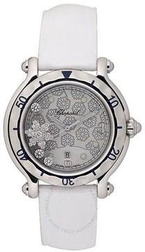 Chopard Happy Sport Diamond Snowflake Steel White Rubber Watch
