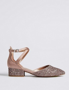 Marks and Spencer Almond Toe Two Part Court Shoes