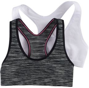 Maidenform Girls 7-16 2-pk. Space-Dyed & Solid Seamless Sports Bras