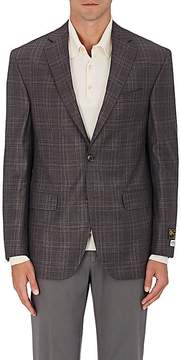 Piattelli MEN'S PLAID WORSTED WOOL TWO-BUTTON SPORTCOAT