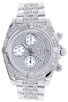Breitling A13356 Chronomat Evolution Stainless Steel & Diamond 44mm Mens Watch