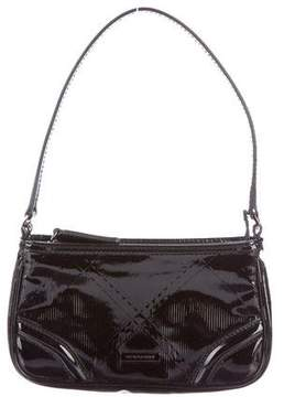 Burberry Embossed Check Sling Bag - BLACK - STYLE